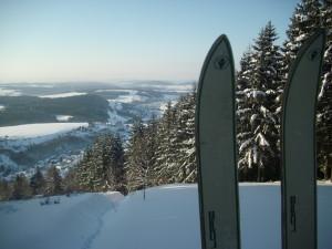 Skitour mit Blick Schaumberger Land